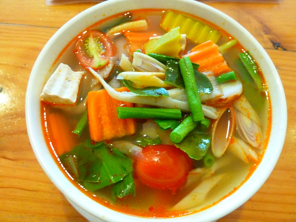 Tom Yum Vegetable Soup