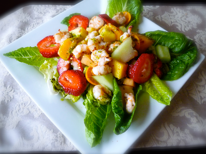 Prawns and Chicken Salad